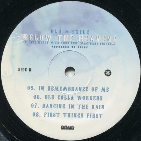 Blu & Exile - Below The Heavens (Somente Disco 1 Lado A e B)