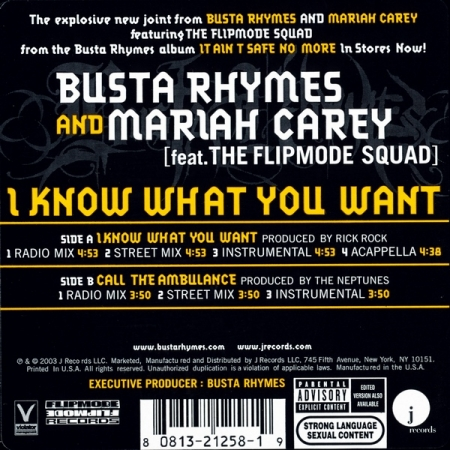 Busta Rhymes & Mariah Carey ‎– I Know What You Want / Call The Ambulance