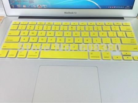 Capa de Teclado de Silicone (Cor Amarela)