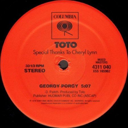 Toto ‎– Georgy Porgy