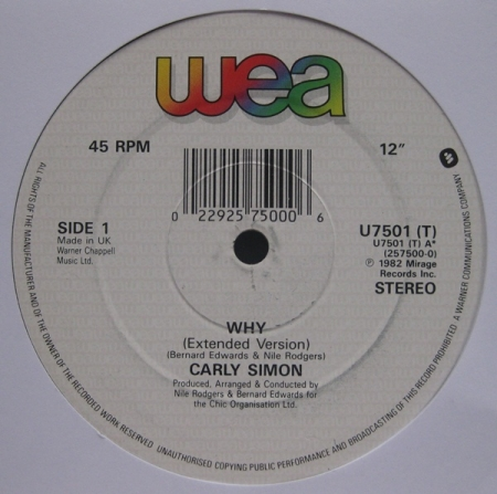 Carly Simon / Chic ‎– Why