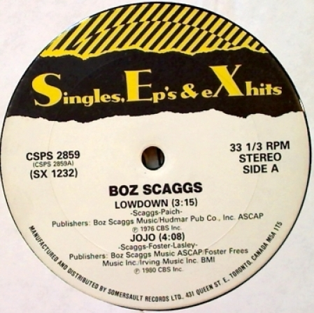 Boz Scaggs / Wild Cherry / Marvin Gaye ‎– Lowdown / Jojo / Play That Funky Music / Sexual Heal