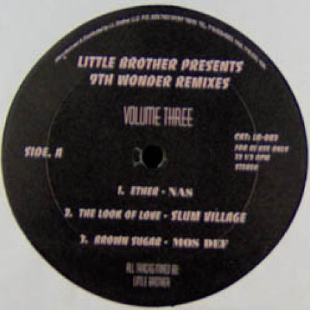 Little Brother Presents 9th Wonder ‎– Remixes Vol. 3