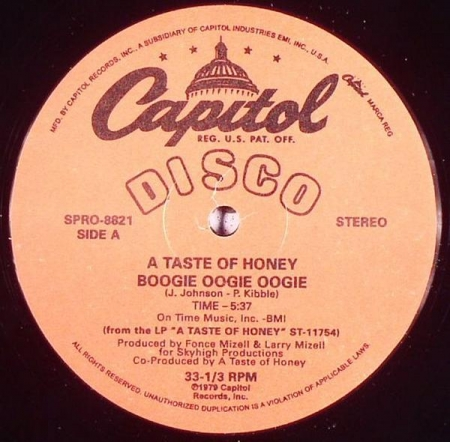 A Taste Of Honey - Boogie Oogie Oogie / Rescue Me
