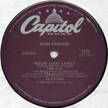 High Fashion - Feelin' Lucky Lately