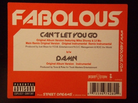 Fabolous ‎– Can't Let You Go / Remix / Damn