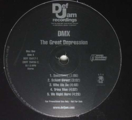 DMX ‎– The Great Depression