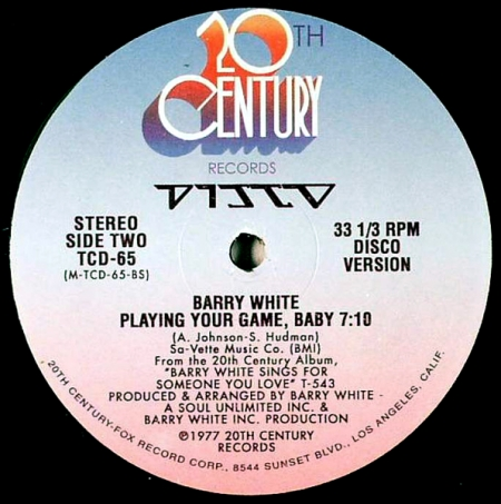 Barry White ‎– Playing Your Game, Baby (Disco Version) [Vocal Long Version]