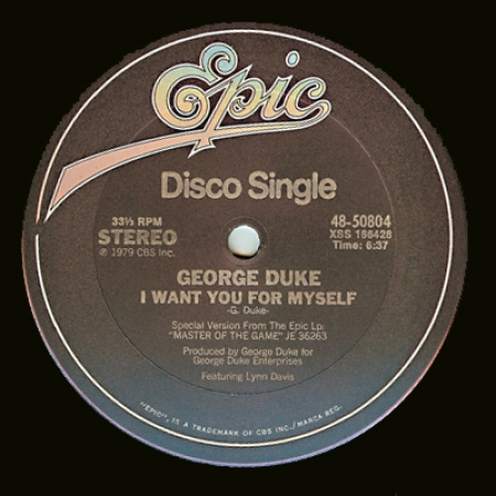 George Duke ‎– I Want You For Myself / Party Down