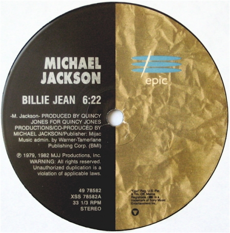 Michael Jackson ‎– Billie Jean / Off The Wall