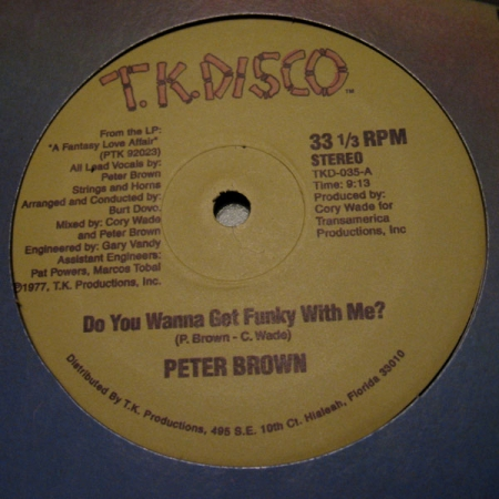 Peter Brown ?– Do Ya Wanna Get  / Dance With Me LACRADO