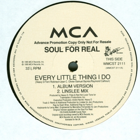 Soul For Real ‎– Every Little Thing I Do