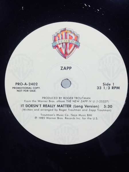 Zapp ‎– It Doesn't Really Matter