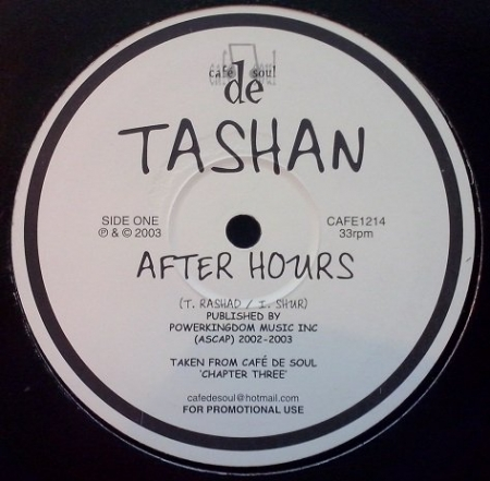 Tashan & Sheree-Monique - After Hours / Because Of You