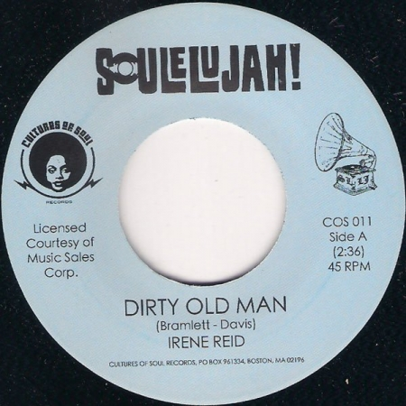 Irene Reid / Cuppy Records Studio Band ‎– Dirty Old Man / I Keep Forgetting