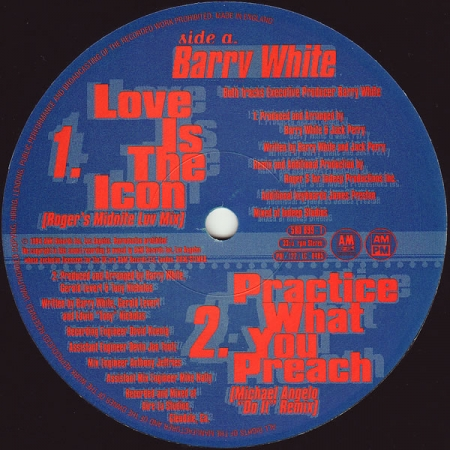Barry White - Practice What You Preach (The R&B Mixes)